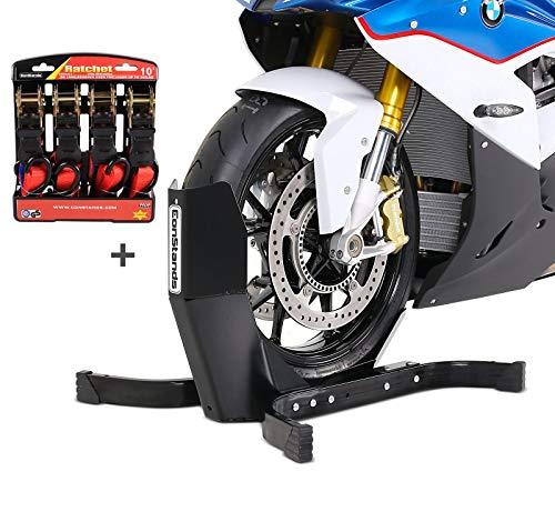 Motorradwippe mit Ratschen-Spanngurten Set für Kawasaki ZXR 400/750 R, Z 750/ R/S ConStands Easy Plus