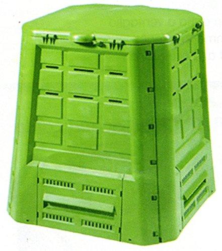 COMPOSTIERA DA GIARDINO IN PLASTICA VERDE 80x80x84 cm. 370 lt.