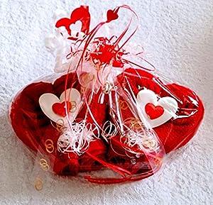 Hochzeitsgeschenk als Handtuch-Doppelherz Handtuchfigur als Hochzeitsüberraschung Hochzeitsfeier