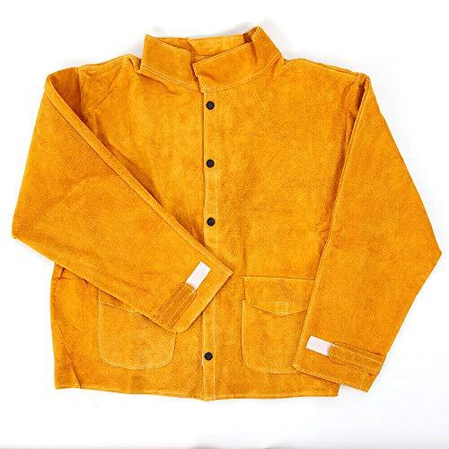 Ethedeal Welding Safety Apparel Coat - L/XL/XXL/XXXL Flame Retardant Electric Welding Work Clothes Welder Jacket Protective Coat (XL)