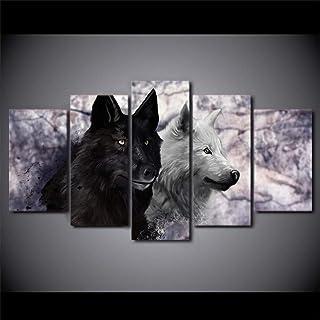 Bilder f/ür Heimwerker 1 Packung W/ölfe 40 x 30 cm Dekoration Maspor Diamant-Gem/älde 5D-Diamant-Stickerei