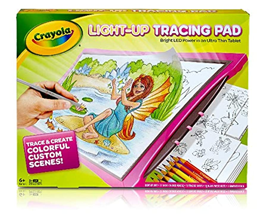 Crayola Light Up Tracing Pad - PINK - BRIGHT LED POWER in an Ultra Thin Tablet tz48964547