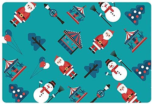 HUFT Bodenmatte Frohe Weihnachten Design Robuste rutschfeste Bodenmatte Lustige Weihnachtsfeierdekoration