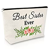 Sister Gifts from Sister Makeup Bag Best Friend Gift Birthday Gifts for Girl Cosmetic Bag Funny Bestie Gift Graduation Gift for Her Travel Cosmetic Pouch Christmas Gift