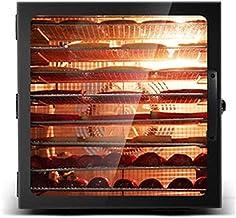 Sèche-linge de fruits secs sèche numérique Alimentation Thermostat réglable 35-90 ° C avec une minuterie d'affichage numér...