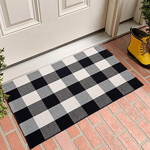 MUBIN Buffalo Plaid Door Mat/Rug