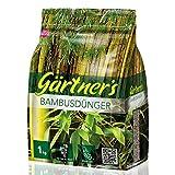Gärtner's Bambusdünger 1 kg I NPK Dünger für Bambus Pflanzen I Für Bambushecke, Gartenbambus und Gartengräser I NPK Pflanzendünger 8+3+5 I Für alle Bambusarten geeignet I Bis zu 10 m²