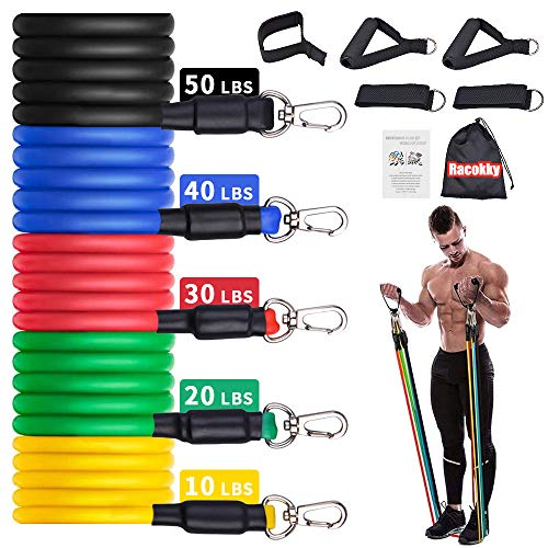Upgrade Exercise Resistance Bands Set Men Home Gym Stretch Training Workout Bands,Portable...