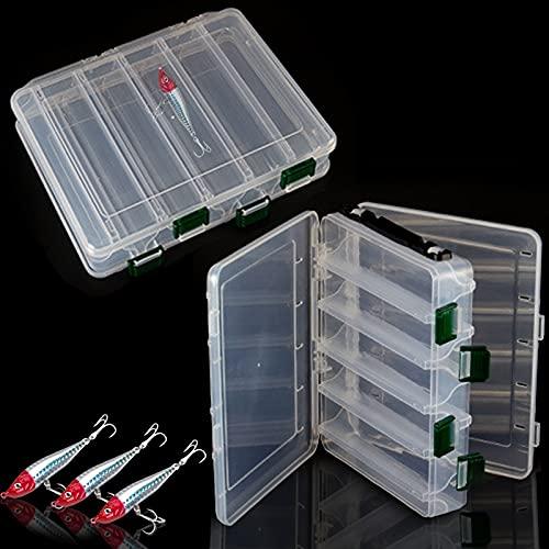 inherited behone 2 pcs Caja de Almacenamiento para Señuelos, Ideal para almacenar señuelos de Pesca, Caja de Almacenamiento con Agujeros de Drenaje, Dimensiones(20 * 17...