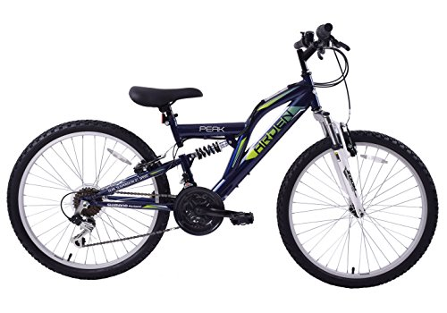 Arden Peak Boys Kids Junior 24' Wheel Full Dual Suspension 21 Speed MTB...