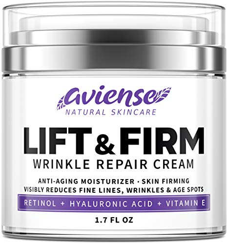 51DZq10veqL - Anti Wrinkle Cream for Face - Retinol & Collagen Anti Aging Cream - Made in USA - Fine Lines & Wrinkle Repair - Retinol Cream for Face with Hyaluronic Acid & Vitamin E - Face Moisturizer for Women & Men