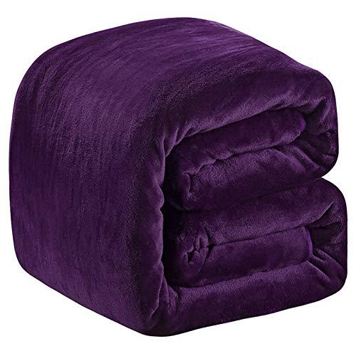 Richave Mantas para Sofa 220x240cm,Mantas de Cama púrpura