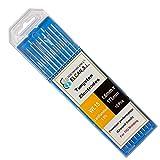 ELCAN Tungstenos soldadura TIG Lantano 1,5% Oro Dorado WL15 profesional, electrodos soldadura para torcha TIG de 1,6 2,4 mm, 10 unidades - Dimensiones: 1,6 x 175 mm