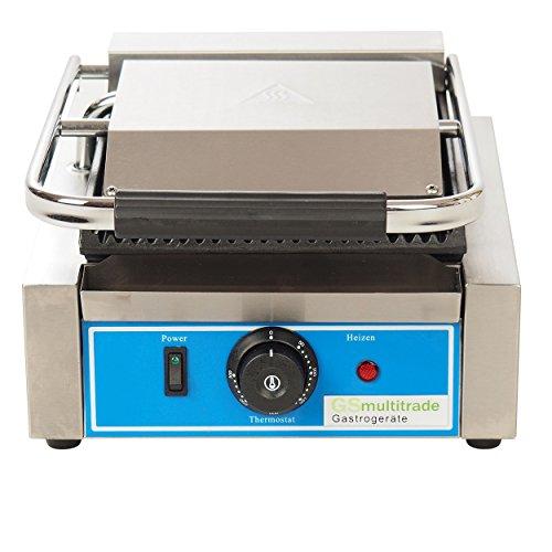 Panini grill, Sandwichtoaster, Kontaktgrill, Gastro, Edelstahl,