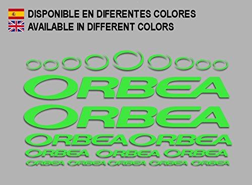 Ecoshirt 3K-PJW2-4NQJ Pegatinas Orbea F208 Stickers Aufkleber Decals Adesivi Bicycle Bike MTB BTT, Verde