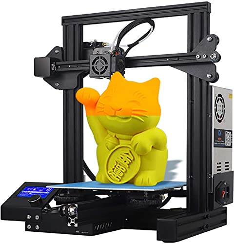 RSBCSHI 3D Printer, Large Metal FDM 3D Printer Resume Printing Function Print Size 220 * 220 * 250mm For Hobbyists, Designers, Home Users
