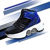 YXRPK Deformación Zapatos De Skate Zapatos Invisible Cuatro Ruedas Patines De Ruedas para Niños Multifunción Ajustable Zapatos con Ruedas para Principiantes