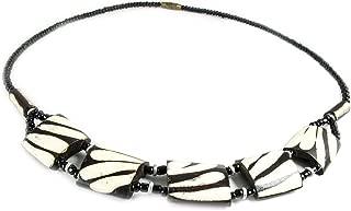 Fair Trade Zebra Print Safari Necklace