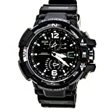 Casio G-Shock GWA-1100-1A3 G-Aviation Series Men's Stylish Watch - Black/One Size