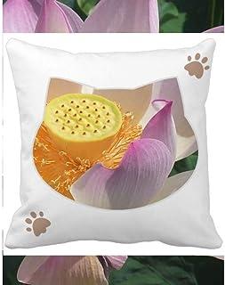 OFFbb-USA Perfect Lotus Summer - Funda cuadrada para almohada