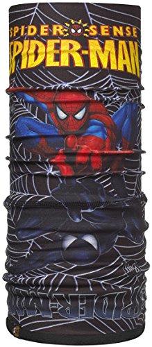 Buff Jnr - Scaldacollo Multiuso in Pile, da Ragazzo, Nero (Nero - Spiderman Venom), 24,5 cm