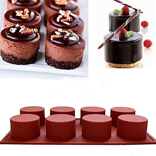WFRAU Runde Form Kuchenform Seifenform Flexible Silikon-Keksform Schokoladenform Eiswürfelschalen Lutscher Candy Gumdrop Jelly Moulds