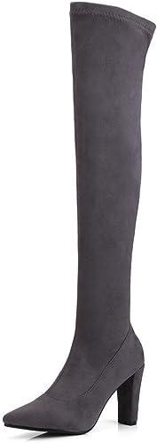 Sandalette-DEDE la Mode du Genou et Hauts Talons, épaisses Bottes, Coup de Genou, Bottes, Mes Bottes.
