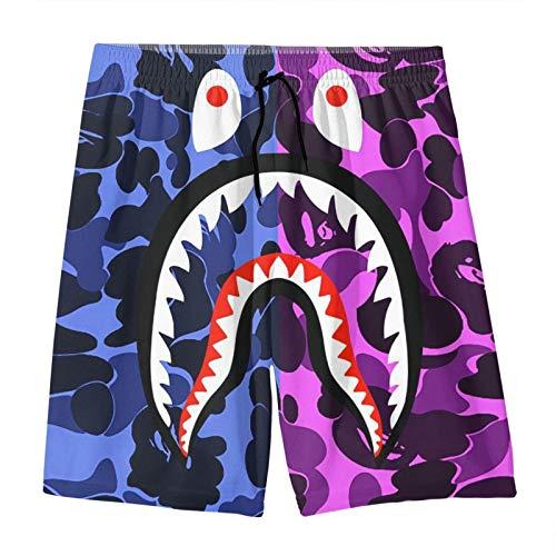 Blood Shark - Pantalones cortos de camuflaje para niños y niñas, pantalones cortos de playa, pantalones cortos para niños - naranja - 14- 16 años