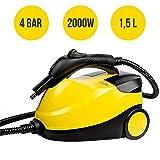 MovilCom - Limpiador Vapor | Vaporeta Limpieza hogar | Máquina De Limpieza Vapor Alta presión 4 Bares - 2000W | Desinfección, Esterilización, Ácaros