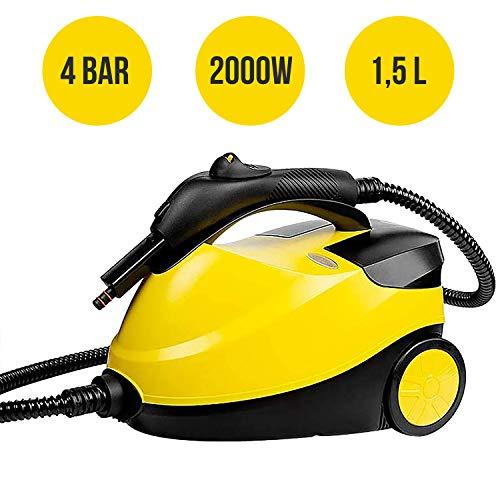 MovilCom® - Limpiador Vapor | Vaporeta Limpieza hogar | Máquina De Limpieza Vapor Alta presión 4 Bares - 2000W | Desinfección, Esterilización, Ácaros