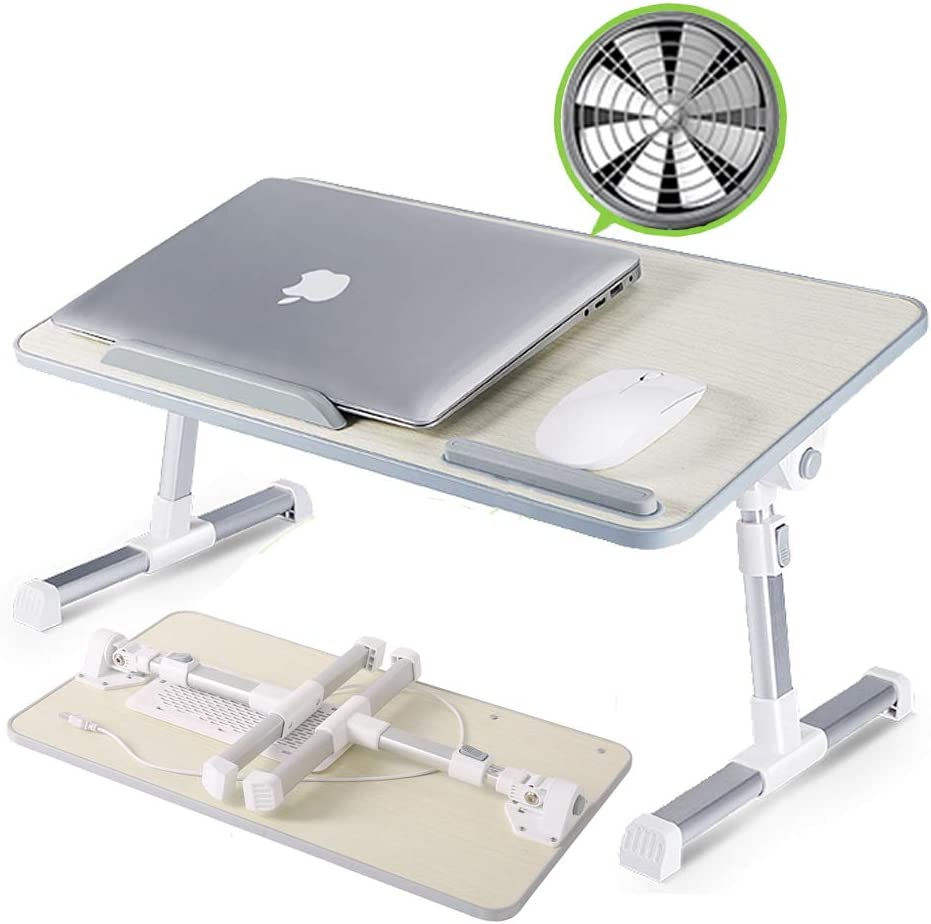 TIESAN Adjustable Laptop Desk with Bed Max 43% OFF Fan Tab Stand Tray Low price