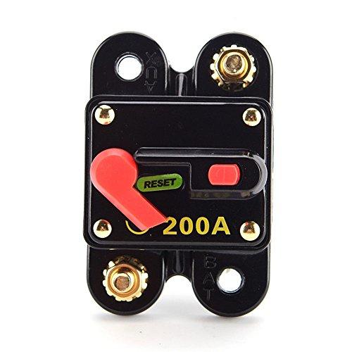 Adv-one Circuit Breaker Trolling Motor Auto Car Marine Boat Bike Stereo Audio Inline Fuse Inverter (200A)