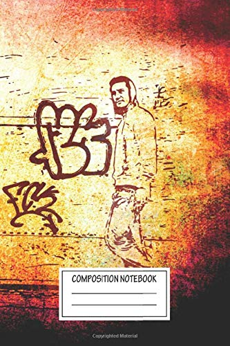 Composition Notebook: Abstract New Grunge Is Cool This Is An Artwork Created From A Cool Metal Posters Wide Ruled Note Book, Diary, Planner, Journal for Writing