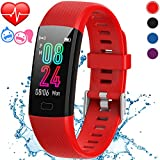 Inspiratek Kids Fitness Tracker for Girls and Boys (Age 5-16) - Waterproof Fitness Watch for Kids with Heart Rate Monitor, Sleep Monitor, Calorie Counter and More - Kids Activity Tracker (Red)