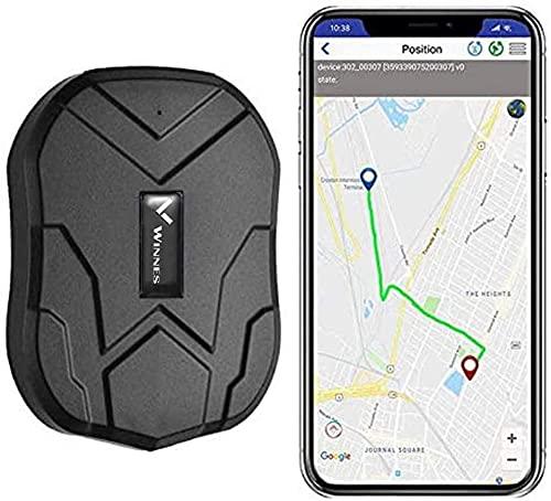 Winnes TK905B - GPS Tracker Localizzatore GPS per auto, in tempo reale, 150 giorni, con potente magnete antifurto Gratuito APP per Android/iOS
