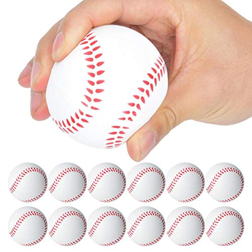Pwshymi Bola de Masaje EVA Ball Toy Niños Juguetes para niños Regalo Infantil Juego Interior y Exterior(Baseball)