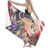 Sword Art Online Toalla de playa Toalla de baño Deportes de secado rápido absorbente ligero toalla manta natación playa fitness baño