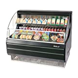 Turbo Air TOM-50LB Black Open Display Case Cooler Low Profile