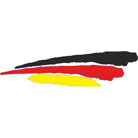 Deutschland Deutsche Wehende Flagge Deutschland 75mm Auto Motorrad Aufkleber X2 Vinyl Stickers Links Rechts Garten