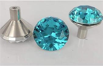 Handvatten 10st 25MM Crystal Diamond snijvlakgeometrie Geschikt for garderobekasten Glass slingerknop Handle + Screw opmak...