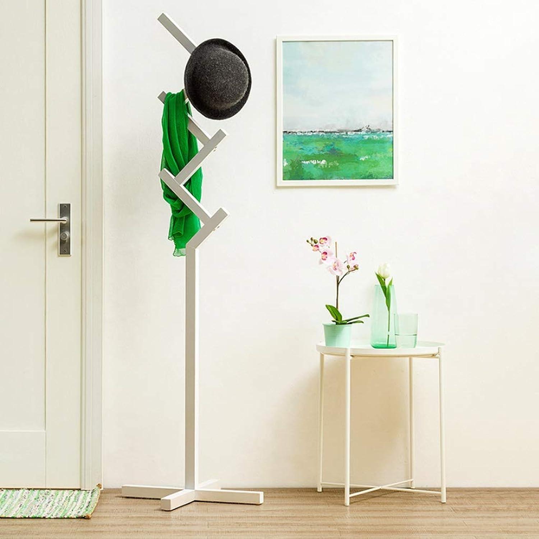 CXQ Simple Modern Solid Wood Coat Rack Hanger Floor-Standing Bedroom Storage Rack Living Room Home Clothes Rack (color   White)