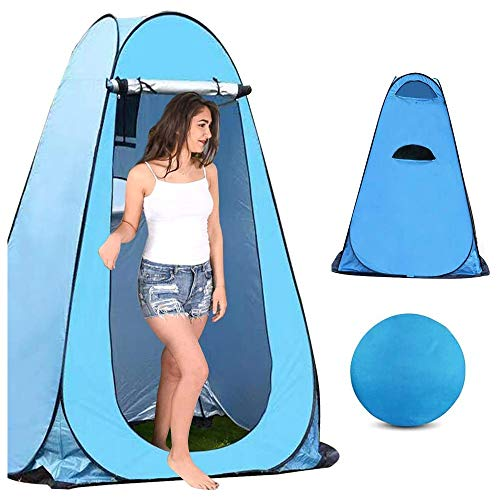 Luorizb Pop Up Pod Changing Room Privacy Tent, Instant Portable Outdoor Shower Tent, Camp Toilet Rain Shelter for Camping and Beach, Changing Room for Outdoors Hiking Travel (Color : A)