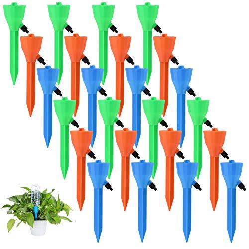 Bearbro Sistema de Riego Automático,Riego Automático de Plantas,Riego por Goteo de Plantas,Riego por Goteo Automático Kit,con Válvula de Control,para Plantas Interior Exterior (24 Piezas)