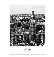 モダンなニューヨークロンドンパリ市内地図リビングルームの壁アート画像白黒ポスターとプリント家の装飾フレームなしの40×60