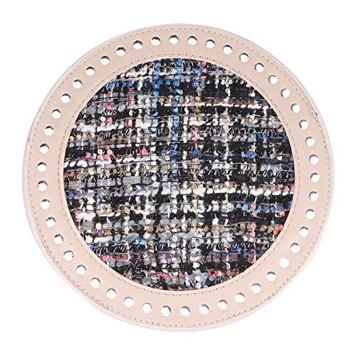 MILISTEN Monedero Moldeador Inferior Bolso Redondo Moldeador de Cuero Artificial Accesorios para Tejer Diy Crochet 18Cm Khaki Blue