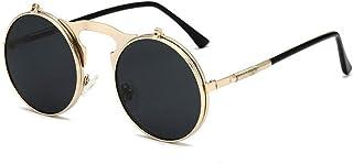 4ec7db7b40 Gafas De Sol Primavera Retro para Hombres Gafas De Sol Polarizadas De Oro  del Bastidor Redondo