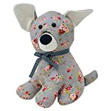 Riva Home FLORAL Dog Doorstop, Baumwolle, Grau, One Size