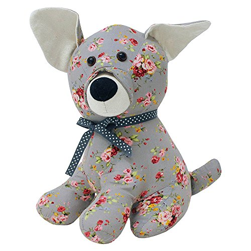 """Riva Paoletti Floral Dog Türstopper - Schwergewicht Sandfüllung Aus 100% Polyester - 19 X 26 X 16 cm (7"""" X 10"""" X 6"""" Zoll) - In Großbritannien Entworfen"""