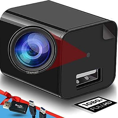 Spy Camera Charger - Hidden Camera - Hidden Camera Plug - Nanny Cam - Premium Pack - Surveillance Camera - Hidden Spy Camera Wall Plug - USB Charger Camera - Full HD 1080p