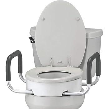 Amazon.com: NOVA Toilet Seat Riser with Handles, Raised Toilet